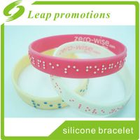 gifts for blind people silicone embossed wristband silicone bracelet
