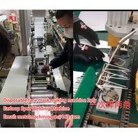 Semi-automatic face nonwoven mask machine 3ply China