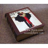 newest antique cardboard book box