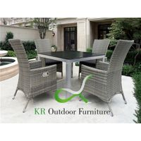 5-pieces Outdoor Dining Set Wicker Garden Dining Set