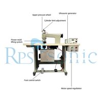 35Khz Ultrasonic sewing machine with rotary horn for raincoat cutting and sealing