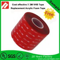 Free Sample Strong Adhesive Acrylic 3M Quality Double sided Foam Tape