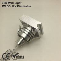 Dimmable Silver Recessed 12V 1W LED Stair Wall Light thumbnail image