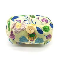 Beeswax wrap large size with button&tie