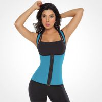 S-Shaper Neoprene Zipper Ultra Sweat Corset Waist Trainer Fitness Fashion Women's Vest For Exercise