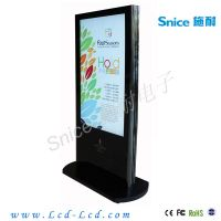 Snice 55inch standing digital signage with s/s border