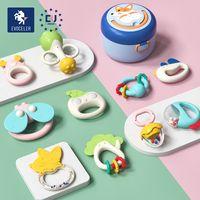 Children Teether Rattle Gift Set Food Grade No BPA