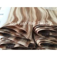 Factory Wholesale Seamless Clip in Hair Extensions Double Drawn Human Remy Hair thumbnail image