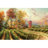 Modern Thomas Kinkade Landscape oil painting TK125