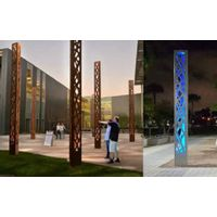 Triangular Lighting Columns Pole