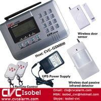 2012 hot and popular 8 zone home wireless GSM alarm system