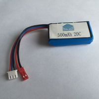 500mah 20C high rechargeable lithium polymer batteries for RC helicopter high rate batteries
