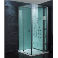 Low shower tray Steam room white panel Steam shower house/Steam roomSteam Cabin thumbnail image