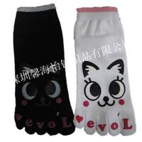 children cartoon five toes socks