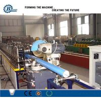 rain downspout roll forming machine/ drain rainspout and elbow curving roll forming machine
