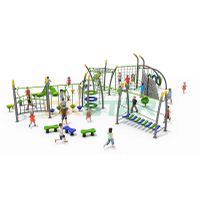 Large Multifunctional Climbing Outdoor Gym Slide Outdoor Playground Equipment For Kids