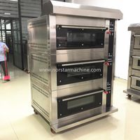 Bakery deck oven 3 deck 6 trays gas oven with steamer thumbnail image