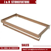 Garment shop metal shelf with hanging bar