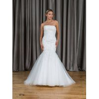 Mermaid & Trumpet Strapless Lace&Tulle Wedding Dress W14
