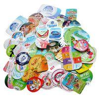 Aluminum foil container lids  for yogurt package