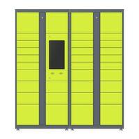 Supermarket storage metal automatic locker intelligent metal locker smart parcel locker solution thumbnail image