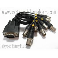 15 pins to 8 BNC cable, DVR card cable