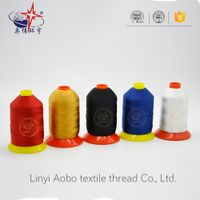 High-tenacity polyester filament thread