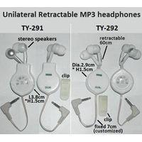 TY-291 Unilateral Retractable MP3 headphones