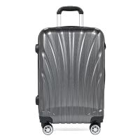 Best selling silver hard shell abs+pc material carry on luggage travel luggage sets