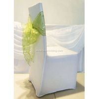 IDASS03 Wholesale latest wedding favor Organza tulle Chair Sash with many colors available for weddi thumbnail image
