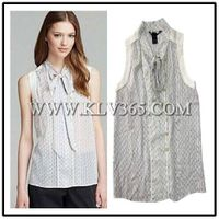 Wholesale Designer Women Fashion Summer Ruffled Sleeveless Top Blouse