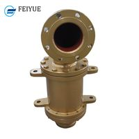 High pressure and low speed 2 passages rotary unions hydraulic oil multi port rotary joint with elbo