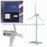 Zinc alloy and ABS plastic blades Solar Wind Turbine Model thumbnail image