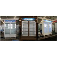 Vertical silding door Supermarket Beverage Cooler