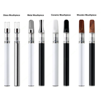 .5ml disposable vaporizer pen with quartz glass ceramic coil cbd tank