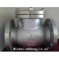 Stainless steel flanged check valve thumbnail image