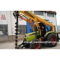 Multifunctional purpose pole digging tractor with crane