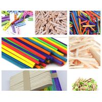 114mm Colored Wood Craft Sticks