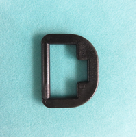 Webbing strap parts plastic D shape buckle adjustable buckle thumbnail image