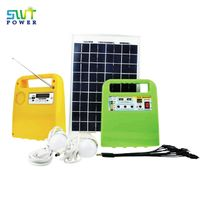 Mini Portable Pv Power Led Light Solar System Generator Kit with Radio And USB Broadcasts Function thumbnail image