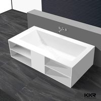 Wholesale solid surface resin stone bathtub