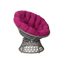 big lots mid century modern metal frame swivel bowl pink papasan chair thumbnail image