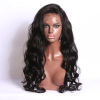 Cheap Brazilian Human Hair Full Lace Front Wigs Loose Wave Hair-Extensions-Wigs