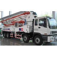 concrete pump truck with boom
