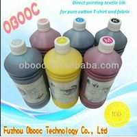 2014 New DTG Textile ink pigment ink for E-pson R1800, 1900, 4880,7880,9880 digital textile printing