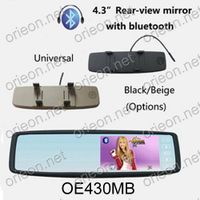 """4.3"""" Universal Rear View Mirror Car Monitor with Bluetooth"""
