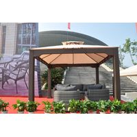 Outdoor Gazebo for coffe shop 3*3m Rattan Elegant Gazebo/ Marquee/Canopy Garden