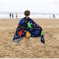Personalized quick dry sublimation printing sandfree oversized gifts beach towel for kids