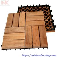 Acacia Wood Interlocking Deck Tile