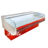 China supermarket equipment fresh meat display refrigerator